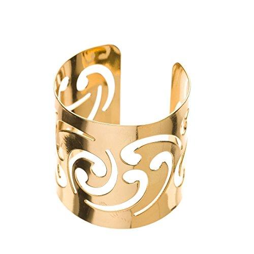 Ella Celebration Gold Metal Napkin Ring Holders 12 Napkin Rings for Weddings Gold Swirl Set of 12 Gold