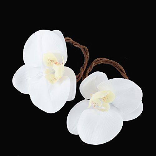 Set of Six Wedding Napkin Rings Flower Linen Napkin Rings Rustic Table Décor