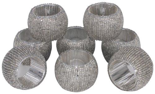 KAF Home Napkin Rings Antique Crystal Beads Set of 8