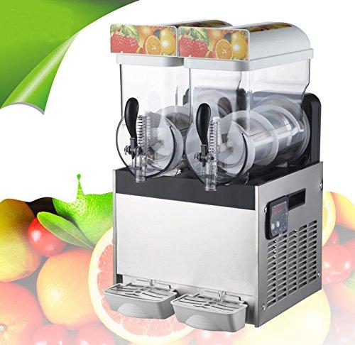 110V Commercial 2Tank Frozen Drink Slush Slushy Making Machine Smoothie Maker 30L Item210076
