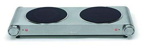 Salton HP1269 Double Burner Infrared Cooking Range Stainless Steel