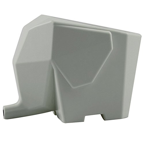 Allrise Cute Elephant Design Plastic Cutlery Drainer Storage Holder Box for Home Kitchen Bathroom Toothbrush Small Knife Accessories grey