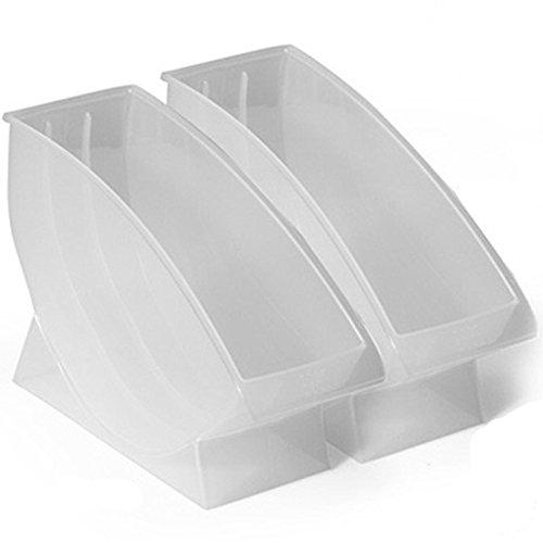 Dealglad New 2pcs Plastic Kitchen Tableware Dish Plate Drainer Drying Storage Rack Organizer Shelf Holder Stand Transparent