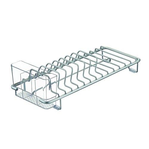 InterDesign Metro Rustproof Aluminum Compact Dish Drainer for Kitchen - SilverClear