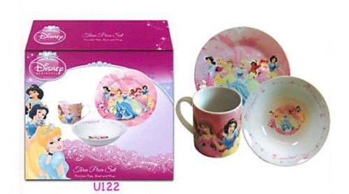 Princess 3 Pc Porcelain dinner Set in Printed Gift box 8 oz Mug 75 Rim Plate 55 Bowl No Florida