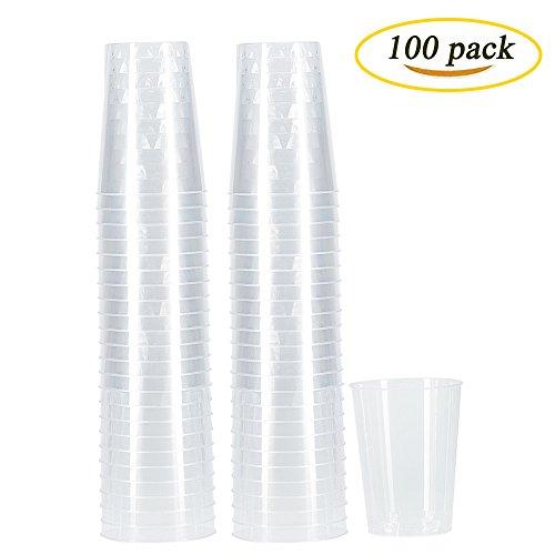 Benail Plastic Disposable Cups Hard Disposable Plastic Party Tumblers 10-Ounce 100-Pack
