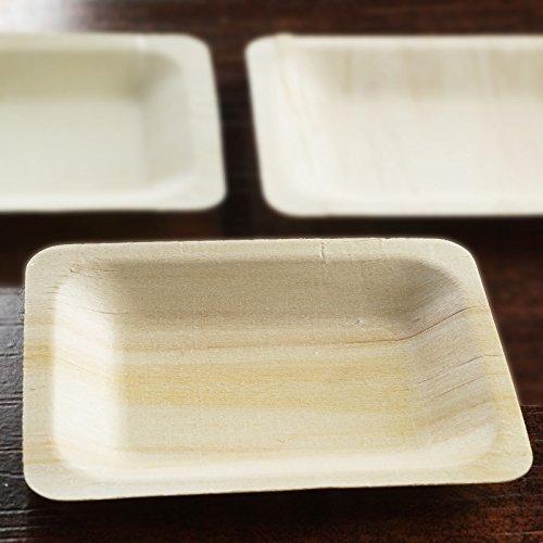 Efavormart 100 Pcs - Contemporary Eco-friendly Birchwood 475 x 375 Rectangle Plate