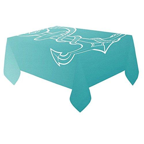 ADE Fashion Custom Table Cover Anchor Art Design Cotton Linen Tablecloth 60x 84 Home Decor for Party Table