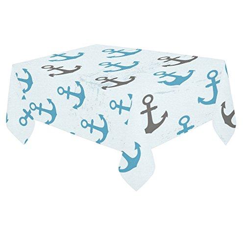 ADE Fashion Custom Table Cover Art Design Chevron Anchor Cotton Linen Tablecloth 60x 84 Home Decor for Party Table