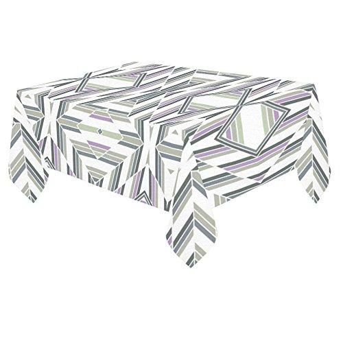 ADEDIY Custom Table Cover Seamless Geometric Diamonds Pattern Cotton Linen Tablecloth 60x 84 Event Party Decor