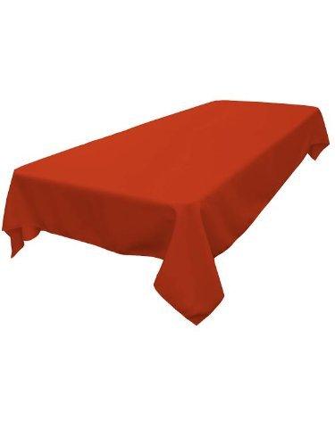 ArtOFabric Burnt Orange Polyester 60 X 120 Tablecloth