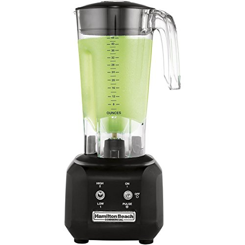Hamilton Beach Commercial HBB250R Rio Bar Blender 34 Peak hp 2 Speed with Pulse Motor 44 oz Polycarbonate Wave Action Container Black