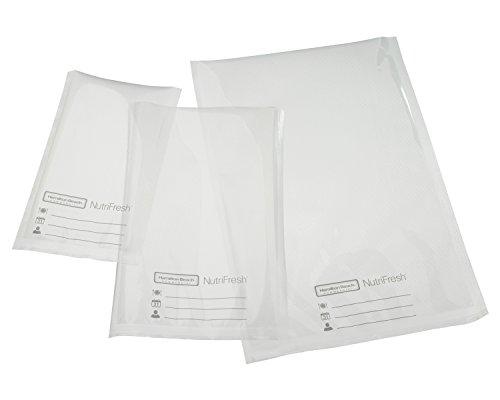 Hamilton Beach Commercial HVBX1000 NutriFresh Vacuum Sealer Bags 6 x 10 3Mil Clear Pack of 100