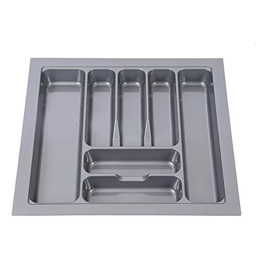 Zoternen Large Cutlery Tray SilverwareFlatware Storage Divider and Drawer Organizer for Kitchen Home 21261909236inGrey