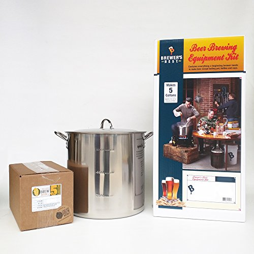 Brewers Best Deluxe Equipment Kit w Better Bottle with 30 Qt Stainless Steel Brew Kettle and Chicago Brew Werks 5 Gallon Ingredient Kit Pumpkin Up