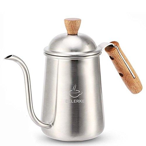 Coffee And Tea Kettle Stainless Steel Long Gooseneck Narrow Spout Coffee Pot kettle Silver-22oz
