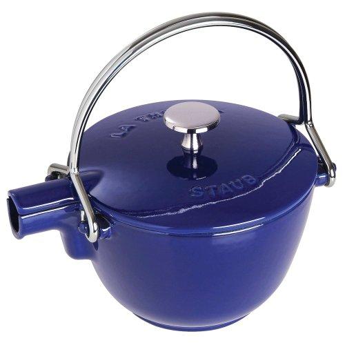 Staub Round Teapot - Kettle Dark Blue 1 qt - Dark Blue