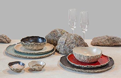 SPECIAL OFFER of 2 person handmade organic dinnerware setting  Wedding Registry Large ceramic dinner set Stoneware dinner setting Wedding Birthday gift