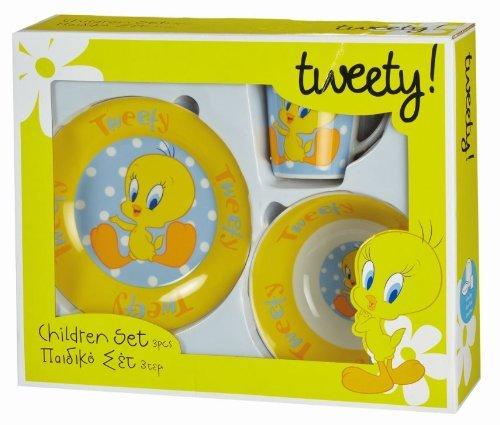 Tweety Pie Looney Tunes 3pc Ceramic Dinner Set