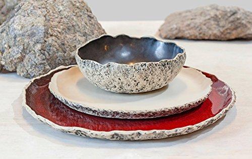 Wedding Dinnerware Registry Handmade organic dinnerware setting Large ceramic dinner set Stoneware dinner setting Wedding Birthday gift