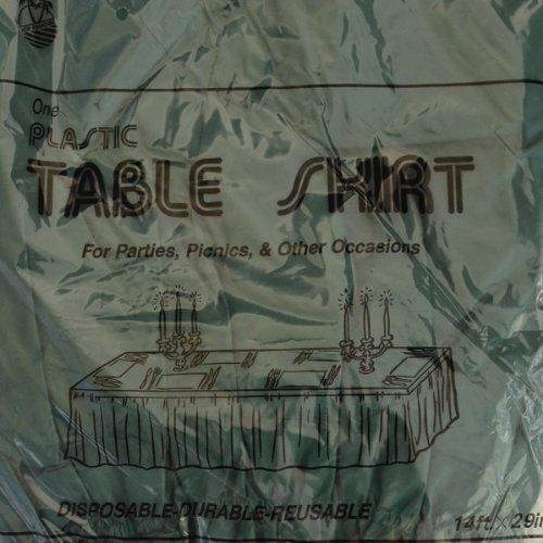 New Paradise Premium Plastic 29 x 14 Table Skirt- Forest Green