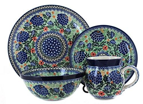 Polish Pottery Sofia 4 PIece Dinner Set - Service for 1