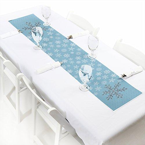 Winter Wonderland - Petite Snowflake Holiday Party Winter Wedding Paper Table Runner - 12 x 60