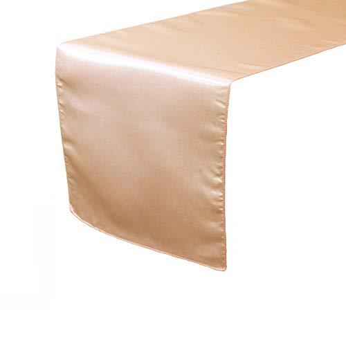 14 x 108 inch Satin Table Runner Peach Tablecloth YCV20