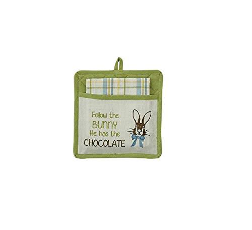 Park Designs Follow The Bunny Pocket Potholder Set