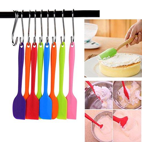 Ecosin Fashion Heat Resistant Flexible Silicone Spatulas Cake Spatula Scraping Baking Scraper Shovel Cream