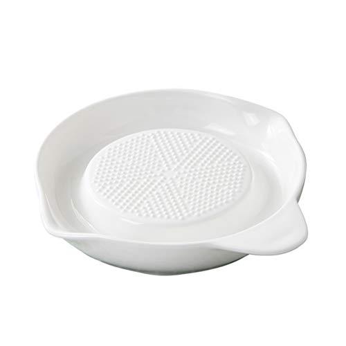 BESTONZON Ceramic Grater Plate Baby Food Grinder Plate for Fruits Vegetables Ginger Garlic Onion