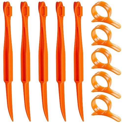 Orange Citrus Peelers SENHAI Set of 10 Plastic Fruit Lemon Skin Remover Slicer