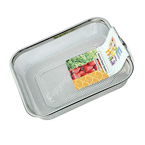Rectangle Stainless Steel Mesh Sink Basket L94×D75×H19inch Vegetable Fruit Colander Strainer Kitchen Tools 1pcs