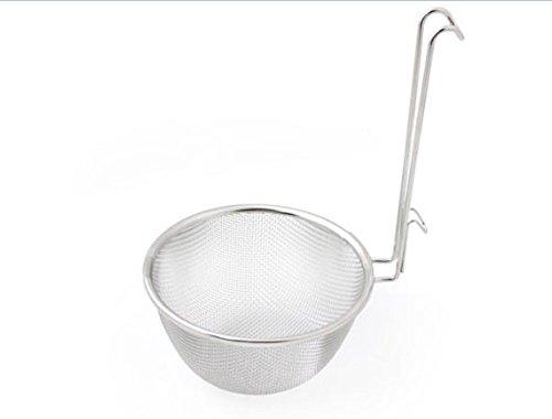 "Kitchen Art Premium Stainless Steel Fine Mesh Asian Noodle Shabu Shabu Strainer D 61"" with Handle Food Noodles Sieve Sifter"