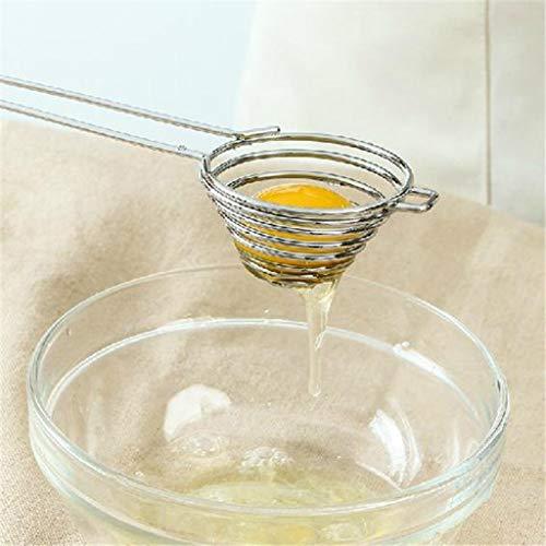 Barcley Egg Separator Egg Yolk White Filter Food Grade Egg Divider Stainless Steel Egg Sieve Kitchen Gadget CookingBaker Tool Egg Extractor - Silver Silver