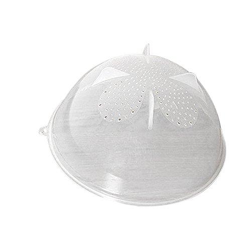 Microwave Cover Hmlai Food Splatter Guard Microwave Food Cover Plate Vented Splatter Protector Clear Kitchen Lid Vent 26x12cm