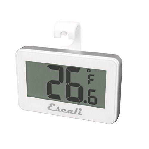 Escali DHF1 White Digital Refrigerator  Freezer Thermometer