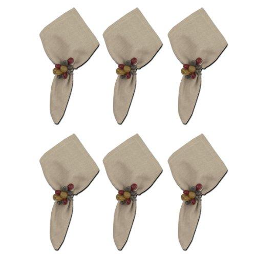 Split P Table Linens Set of 6 Essentials Napkins Stone