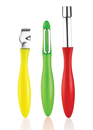Sunkist Stainless Steel Vegetable Peeler Fruit Zester Apple Corer SAG3124