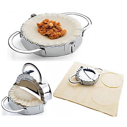 New Stainless Steel Ravioli mould Dumpling Maker Wrapper Pierogie Pie Crimper Pastry Dough Press Cutter Kitchen Gadgets L 45inch