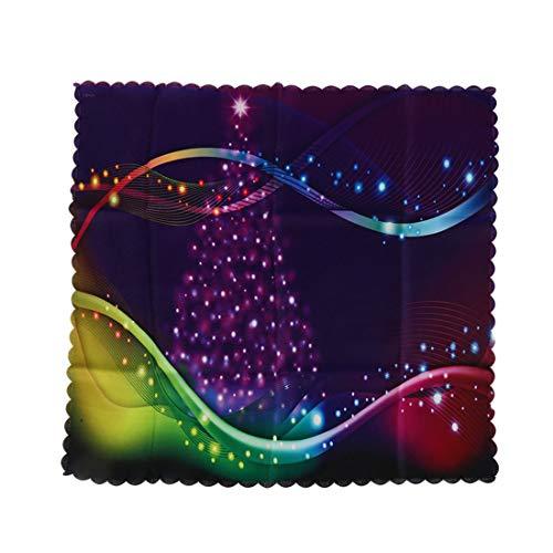 Iumer Bedside Table Cloth Christmas Tree Print Gradient Dust Waterproof 3D Print Christmas Decor5050