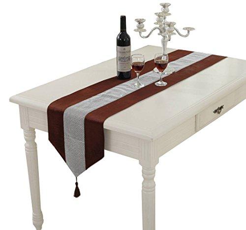 Xiang Ru Ornate Beaded Sequined Rhinestone Tea Table Cloth Flag Dresser Scarves with Tassels Coffee 12 x 8232 x 210cm