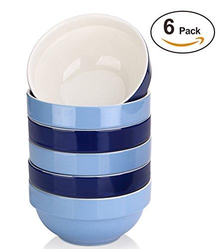 DOWAN 16 Ounce Soup Bowl Set - Prefect Portion Control for CerealSalad 6 packs Assorted Colors