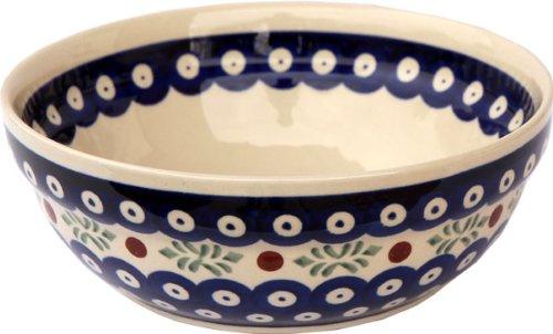 Polish Pottery Cereal  Salad Bowl From Zaklady Ceramiczne Boleslawiec 1152-242 Height 26 Diameter 67