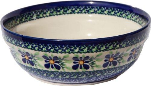 Polish Pottery Cereal  Salad Bowl From Zaklady Ceramiczne Boleslawiec 1152-du121 Unikat Diameter 67