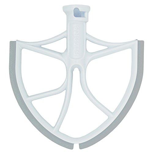 Flat Beater with Flex Edge Bowl Scraper Flat Blade for KitchenAid 6-Quart Bowl Lift Mixer