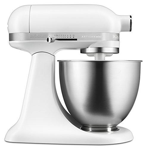 KitchenAid KSM3311XFW Artisan Mini Series Tilt-Head Stand Mixer 35 quart Matte White