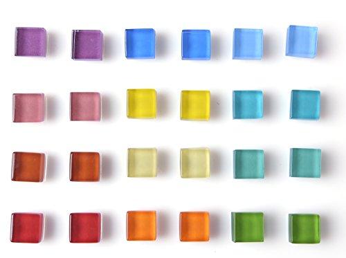 Office Magnets Kitchen Magnets Refrigerator Magnets Fridge Magnets for Whiteboard Magnets for Dry Erase Board Multicolor Square Glass Colorful Cute Fun Decoration Glass