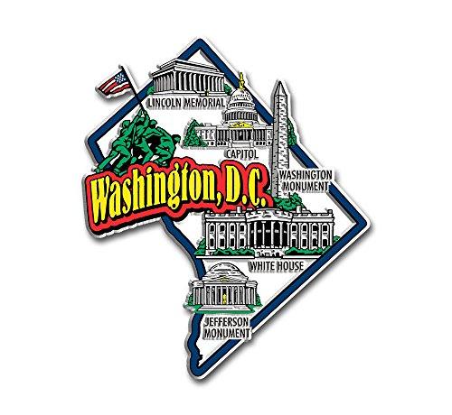 Washington DC State Jumbo Map Magnet