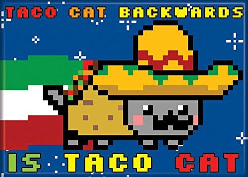 Nyan Cat - Taco Cat - Refrigerator Magnet